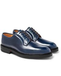 Scarpe derby in pelle blu scuro