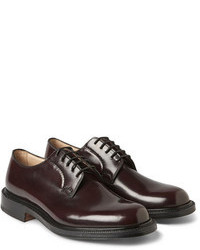 Scarpe derby in pelle bordeaux
