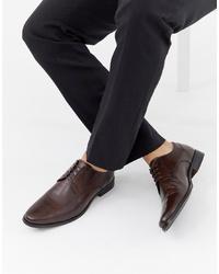 Scarpe derby in pelle marrone scuro di ASOS DESIGN