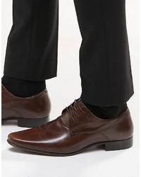 Scarpe derby in pelle marrone scuro di Asos