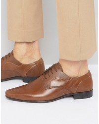 Scarpe derby in pelle marroni di Asos
