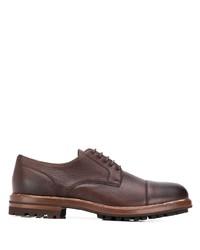 Scarpe derby in pelle marroni di Brunello Cucinelli