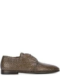 Scarpe derby in pelle marroni di Dolce & Gabbana