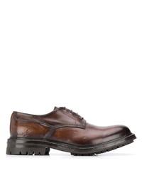 Scarpe derby in pelle marroni di Officine Creative