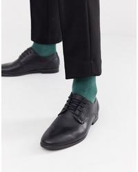 Scarpe derby in pelle nere di Burton Menswear