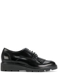 Scarpe derby in pelle nere di P.A.R.O.S.H.