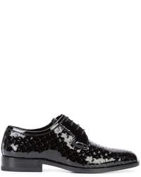 Scarpe derby in pelle nere di Saint Laurent