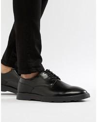 Scarpe derby in pelle nere di Silver Street