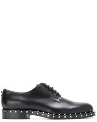 Scarpe derby in pelle nere di Valentino Garavani