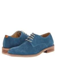Scarpe derby in pelle scamosciata blu
