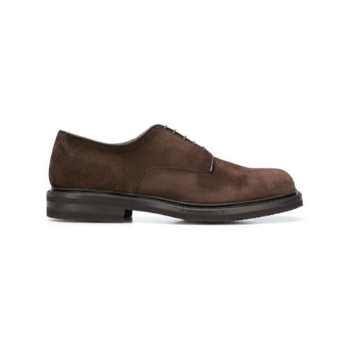 online store eb4e4 74ba3 €343, Scarpe derby in pelle scamosciata marrone scuro di Green George