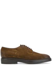 Scarpe derby in pelle scamosciata marroni di Doucal's