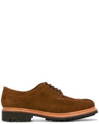 Scarpe derby in pelle scamosciata marroni di Grenson