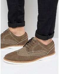 Scarpe derby in pelle scamosciata marroni di Steve Madden