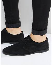 Scarpe derby in pelle scamosciata nere di Asos