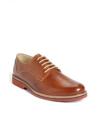 Scarpe derby in pelle terracotta