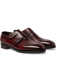 Scarpe double monk in pelle bordeaux di John Lobb