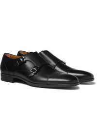 Scarpe double monk in pelle nere di Hugo Boss