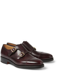Scarpe double monk in pelle