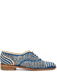 Scarpe oxford blu di Robert Clergerie