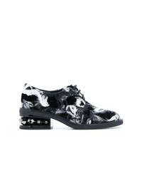 Scarpe oxford di tela grigio scuro di Nicholas Kirkwood