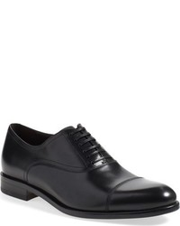 Scarpe oxford in pelle blu scuro