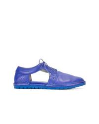 Scarpe oxford in pelle blu di Marsèll