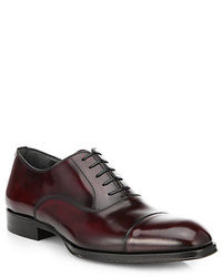 Scarpe oxford in pelle bordeaux