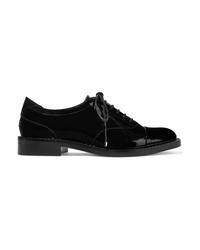 Scarpe oxford in pelle decorate nere di Jimmy Choo