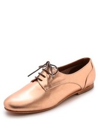 Scarpe oxford in pelle dorate