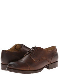 Scarpe oxford in pelle marrone scuro