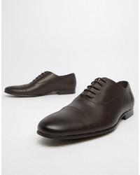 Scarpe oxford in pelle marrone scuro di Office