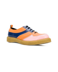 Scarpe oxford in pelle multicolori