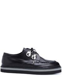 Scarpe oxford in pelle nere di Alexander McQueen