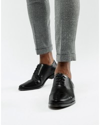 Scarpe oxford in pelle nere di ASOS DESIGN