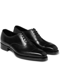 Scarpe oxford in pelle nere di Kingsman