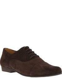 Scarpe oxford in pelle scamosciata marrone scuro