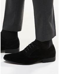 Scarpe oxford in pelle scamosciata nere di Asos