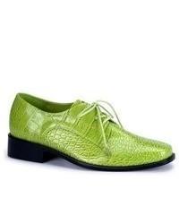 Scarpe oxford in pelle verdi