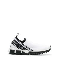 Scarpe sportive bianche e nere di Dolce & Gabbana