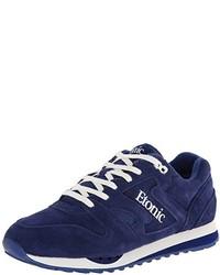 Scarpe sportive in pelle scamosciata blu scuro