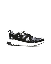 Scarpe sportive nere e bianche di Neil Barrett
