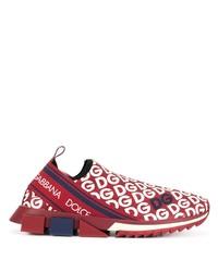 Scarpe sportive rosse e bianche di Dolce & Gabbana