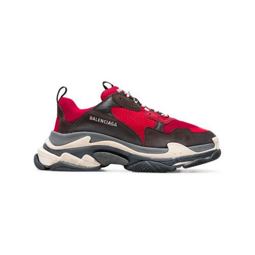 c9db69eb93859 ... Scarpe sportive rosse e nere di Balenciaga ...