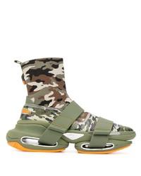 Scarpe sportive verde oliva di Balmain