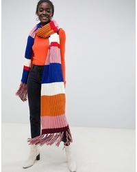 Scialle lavorato a maglia multicolore di ASOS DESIGN