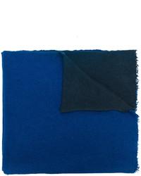 Scialle testurizzato blu di Faliero Sarti