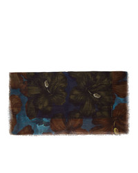 Sciarpa a fiori nera di Dries Van Noten