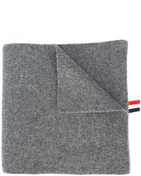 Sciarpa a righe orizzontali grigia di Thom Browne