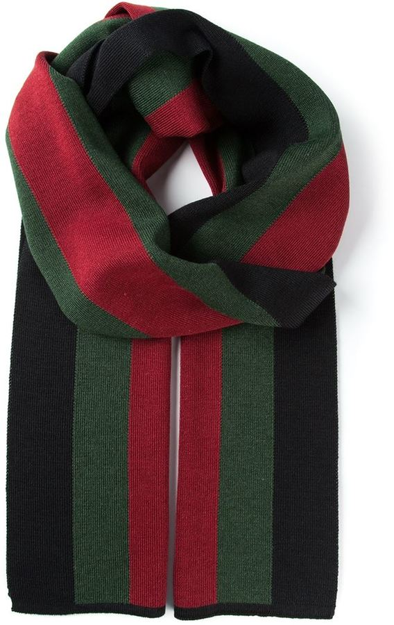 nuovi stili e8b37 45af5 Sciarpa a righe orizzontali verde di Gucci